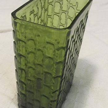 Green art glass vase  - Art Glass
