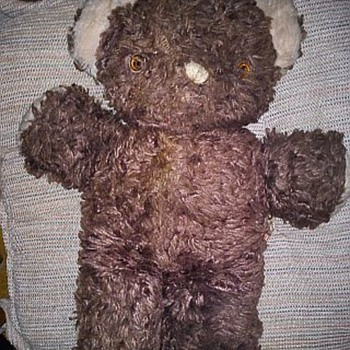 "My Mother's Childhood Bear w/tag marked ""Ideal"" - Dolls"