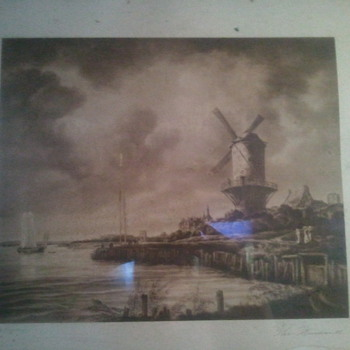 Huge framed antique print - Posters and Prints