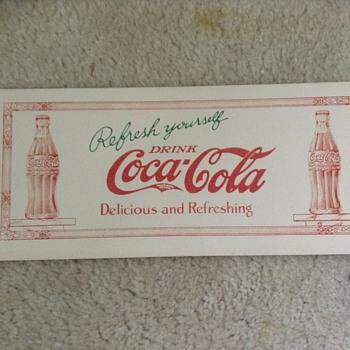 This coca cola blotter?