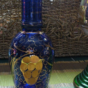 Bohemian Art Glass Vase - Glassware