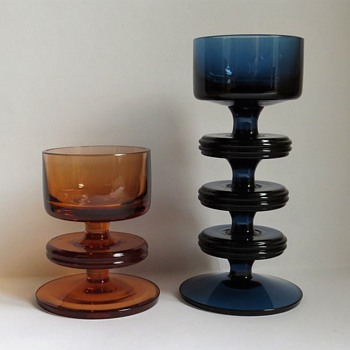 Wedgwood Glass Sheringham Candlesticks. - China and Dinnerware