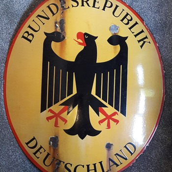 Germany during the cold war - Part 5 - West German border State Sign - Military and Wartime