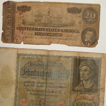 Foreign money- 1922- - US Paper Money
