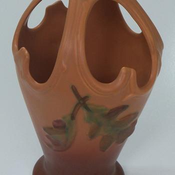 Weller unique covered  vase - acorn pattern - Pottery