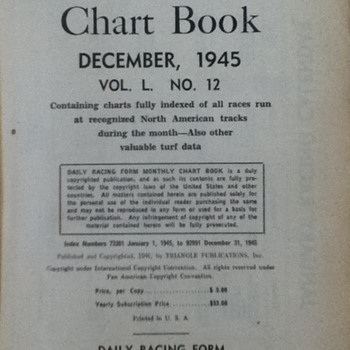 Book of racing forms for December, 1945 - Books
