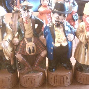 cowboy bourbon, pirate rum, inspector gin McGovern Alberta's Figurals