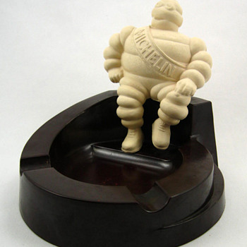Michelin Man Bibendum Bakelite Ashtray  - Tobacciana