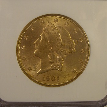 Misc $20 U.S. Gold Liberty Double Eagle 1901, 05, & 06