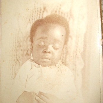 CDV of Post Mortem African American baby