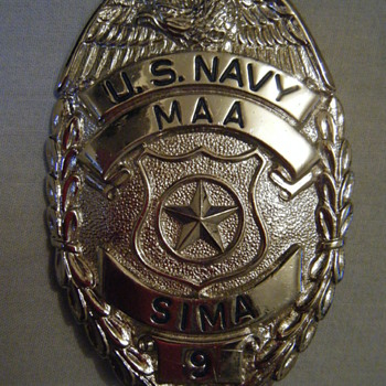 VIETNAN ERA US NAVY MASTER AT ARMS SIMA SHIP/SHORE  INTERMEDIATE MAINTENANCE ACTIVITY BADGE - Medals Pins and Badges