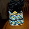 BEADED DRAWSTRING BAG