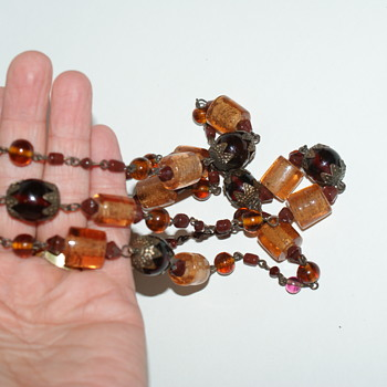 Long Glass Beads Necklace - Costume Jewelry