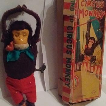 """""""Japan"""" Windup Circus Monkey"""