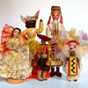 National Costume Dolls from all over the world (Grouped by color)
