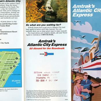 Amtrak To Atlantic City - Railroadiana
