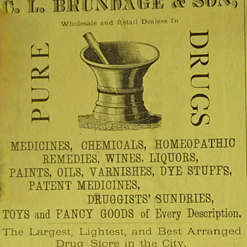 1873 & 1878 Druggist Ads - Advertising