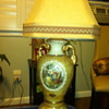 """Colonial Couple"" Lido China 22k porcelain lamp"