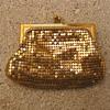Whiting & Davis gold metal mesh coin purse