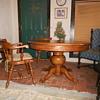 Oak pedestal table