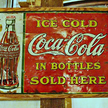 1923 Coca-Cola Sign  - Coca-Cola