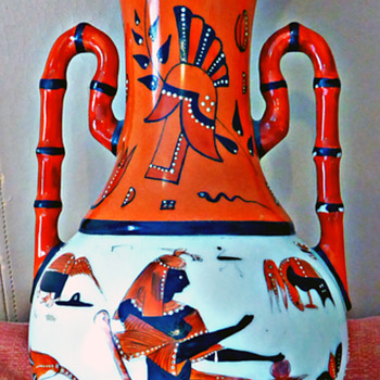 Curious Egyptian Revival Vase - Pottery