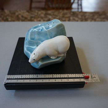 Porcelain Polar Bear and Glacier Salt & Pepper shakers - Kitchen