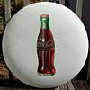 White Porcelain Coca Cola Button