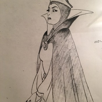 """Evil Queen"" Model Sheet - 1937 - Fine Art"