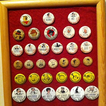 Newstrip premium pinbacks - Medals Pins and Badges