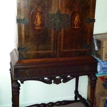 Antique Cabinet on Stand
