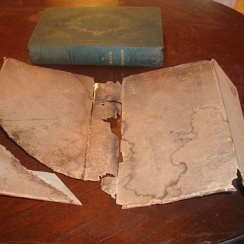 Works of Akenside, 1835 with early home made? dust jacket - Books