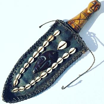Vintage African Knife w/ Bone Handle