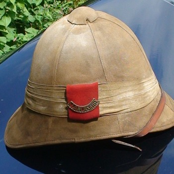 Boer War South Lancashire British Foreign Service Pith Helmet Hat - Military and Wartime
