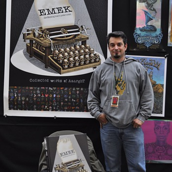 Emek at TRPS Festival of Rock Posters, 10/9/10 - Posters and Prints