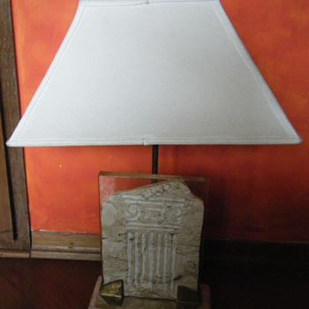 ANCIENT GREEK MOTIF LAMP. - Lamps