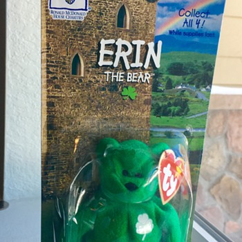 Erin The Bear-1997 McDonald's Ty Beanie Baby  - Toys