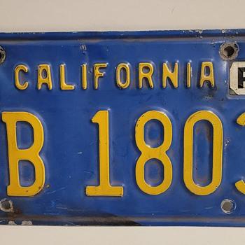 California Trailer Plate - Classic Cars