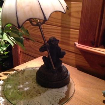 Vintage Monkey Lamp Pair