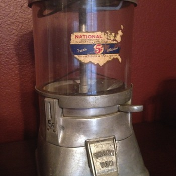 Early Bubble Gum Machine - Coin Operated