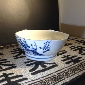 Asian scalloped rim blossom bowl   - Asian