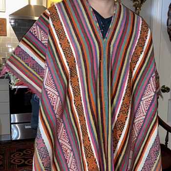 Mexican Poncho from the Psychedelic 60s!   - Mens Clothing