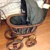 1800's era wood/wicker baby doll buggy
