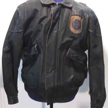 F4 Designer Leather Bomber Style Jacket - Mens Clothing