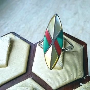 Navajo Sterling Ring Signed Teme', Antique Market Find $5.00 - Fine Jewelry