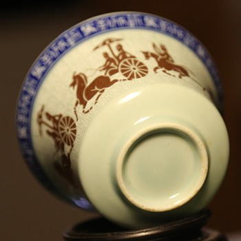 Porcelain cup with Ancient Theme
