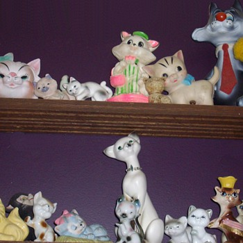 My goofy cat collection. - Pottery