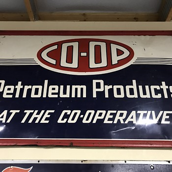 Co-Op gas and oil sign  - Petroliana