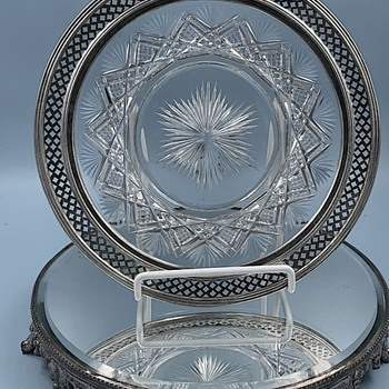 Two American Brilliant Cut  Glass Plates by Pairpoint  Baltic Pattern - Glassware