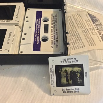 40 Color Slides and Cassette - The story of the White House